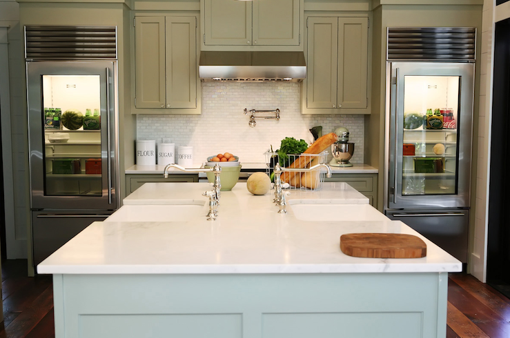 Two Sinks In Kitchen : Double Kitchen Sinks - Transitional - kitchen - Urban Grace Interiors