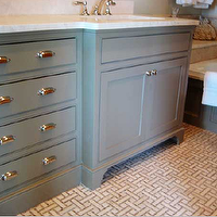 Urban Grace Interiors - bathrooms - gray bathroom, gray bathroom cabinets, gray bathroom vanity,  Beautiful gray bathroom design with gray bathroom