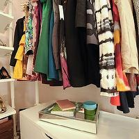 Domestic Jenny - closets - Behr - Frolic - ikea, stolmen, pink, white, mirrored, dressing room, closet,  dressing room