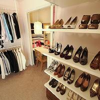 Domestic Jenny - closets - shoes, closet, dressing room, ikea, pink, stolmen, white,  dressing room