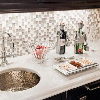 Mosaic Glass Tile Backsplash, Contemporary, kitchen, Venegas and Company