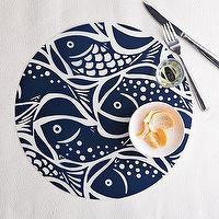 Decor/Accessories - Fish Polypropylene Placemat | west elm - Fish, Polypropylene, Placemat