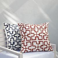 Pillows - Outdoor Grecian Block Pillows | west elm - outdoor, grecian, block, pillow