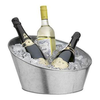 Decor/Accessories - Galvanized Tabletop Party Tub | Crate&Barrel - galvenized, party, tub