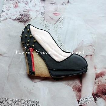 Miscellaneous - Christian Louboutin Luxury Black Heel by katiesomethingsweet - Christian Louboutin, cookies