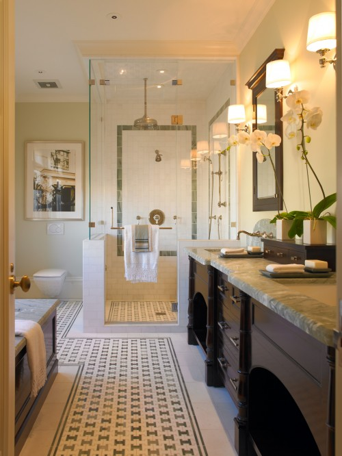 Rain Shower Head - Transitional - bathroom - Gast Architects