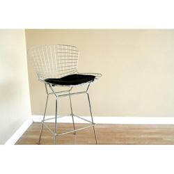 Seating - Tomkin Mesh Bar Stool with Leatherette Seat Pad | Overstock.com - bar stool