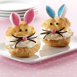 Miscellaneous - Sweet Kat's Kitchen: BUNNY CREAM PUFFS - Easter, bunny, cream, puffs