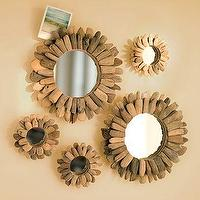 Mirrors - Driftwood Mini Mirrors | PBteen - mirrors, driftwood