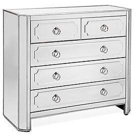 Z Gallerie Simplicity Mirrored 5 Drawer Hall Chest