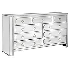 Storage Furniture - Z Gallerie - Simplicity Mirrored 9 Drawer Dresser - mirrored, dresser