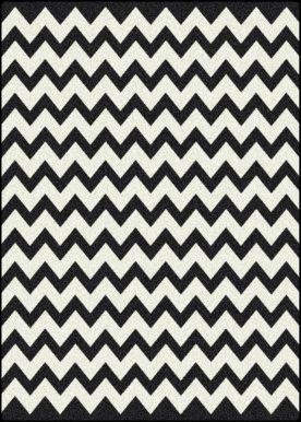 Milliken Black And White Vibe Techno Black Rug Contemporary Rugs