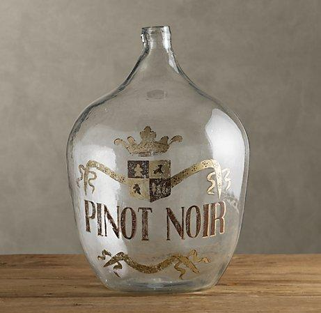 Decor/Accessories - 1920s Hand-Blown Wine Bottle Pinot Noir | Objêts D'Art | Restoration Hardware - hand blown, wine, bottles