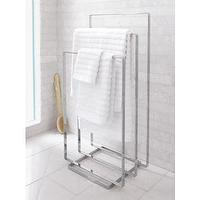Bath - CB2 - chrome towel rack - chrome, towel, rack
