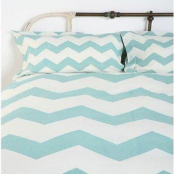 Bedding - UrbanOutfitters.com > Zigzag Shams - Set of 2 - blue, zigzag, chevron, shams