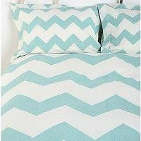Bedding - UrbanOutfitters.com &gt; Zigzag Shams - Set of 2 - blue, zigzag, chevron, shams