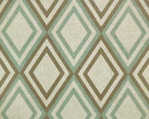 Linen Drapery Print EatonBlue/Kelp Linen