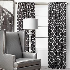 Window Treatments - Z Gallerie - Mimosa Panels - Charcoal - mimosa, moorish, tiles, pattern, drapes