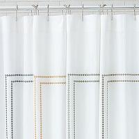 Bath - Pearl Embroidered Shower Curtain | Pottery Barn - monogrammed, shower curtain
