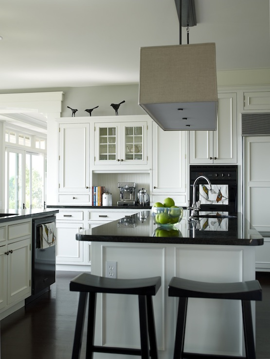 Suzie:  Bella Mancini Design  Chic white kitchen design with white kitchen cabinets & kitchen  ...