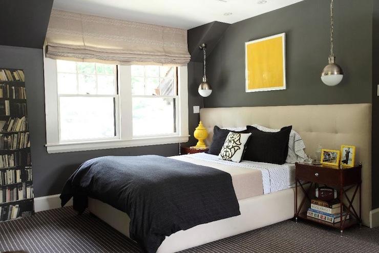 Extra Wide Headboard, Contemporary, bedroom, Liz Caan Interiors