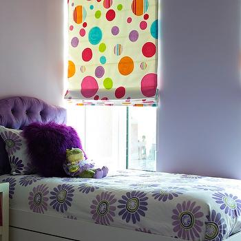 Purple Headboard, Contemporary, girl's room, Bella Mancini Design