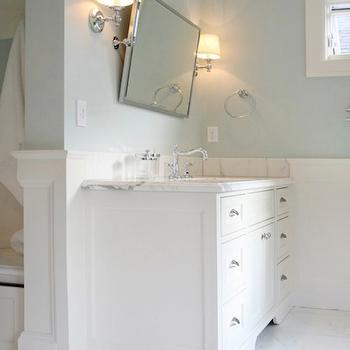 Blue Bathroom Paint Colors, Transitional, bathroom, Benjamin Moore Woodlawn Blue, Garrison Hullinger Interior Design