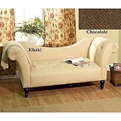 Chloe Roll Arm Chaise, Overstock.com