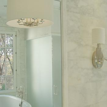 Frosted Glass Shower Door, Transitional, bathroom, Brian Watford Interiors