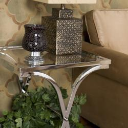 Tables - Parker Chrome End Table | Overstock.com - accent table