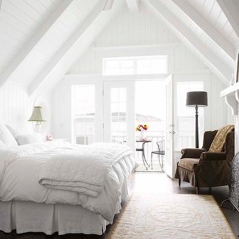 Bedroom with Vaulted Ceiling, Transitional, bedroom, Alex Hayden