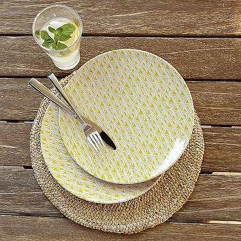 Sunshine Melamine Plates, west elm