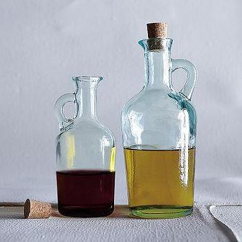 Decor/Accessories - Recycled-Glass Vinegar + Oil Bottles | west elm - Recycled-Glass, Vinegar + Oil Bottles