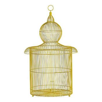 Decor/Accessories - Colias Bird Cage | Crate&Barrel - yellow, decorative, birdcage