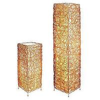 Lighting - Walmart.com: Wicker Table and Floor Lamp Set, Gold: Decor - wicker, floor lamp