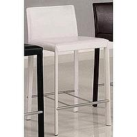 Seating - Euro Design White Bicast Leather Counter Stools (Set of 2) | Overstock.com - white, counter stool