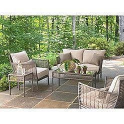 Seating - Bouchelle 5-piece Patio Seating Set- Ty Pennington-Outdoor Living-Patio Furniture-Casual Seating Sets - patio seating