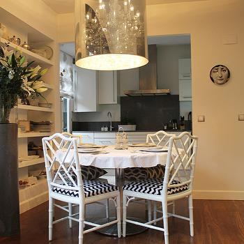 White Bamboo Chairs, Transitional, dining room, Beau Lifestyle