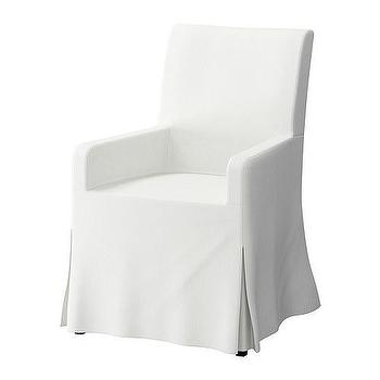 Seating - IKEA | Chairs | Upholstered chairs | HENRIKSDAL | Armchair - dining chair, white, slipcover