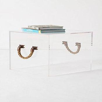 Storage Furniture - Illusion End Table - Anthropologie.com - lucite, illusion, table