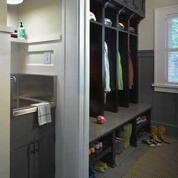 Mudroom Lockers, Contemporary, laundry room, Rehkamp Larson Architects