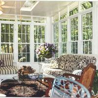 porches - Benjamin Moore Widow's grey, lights, floor,  Sunroomwith lots of access to light