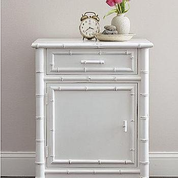 Storage Furniture - Faux-Bamboo Nightstand - Garnet Hill - white, faux bamboo, nightstand