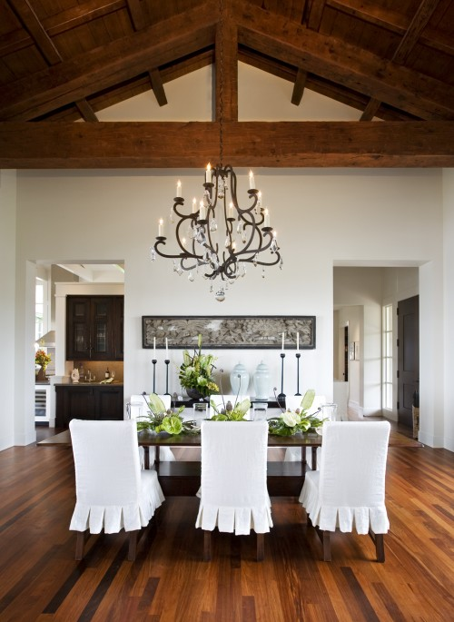 Ruffled Dining Chairs - Transitional - dining room - Sutton Suzuki