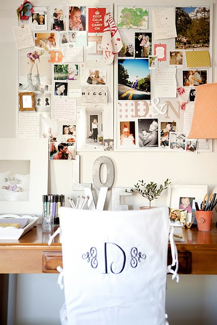 Suzie: meohmymama.blogspot.com  Ashlee Raubach Photography  Great office design with bulletin ...