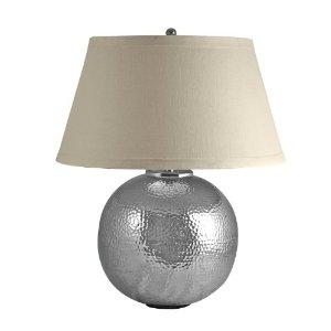 Lighting - Amazon.com: Lamp Works 850 Hand Hammered Aluminum Orb Lamp: Home Improvement - table lamp