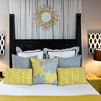 bedrooms - Sherwin Williams Knitting Needles, yellow, gray, canopy, starburst,  dwellingsbydevore.com