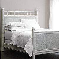 Beds/Headboards - Faux-Bamboo Bed - Garnet Hill - white, faux bamboo, bed