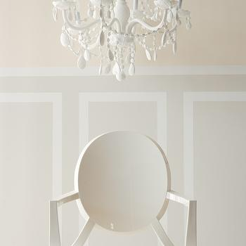 dining rooms - cream paint, cream walls, cream wall paint, white ghost chair, Kartell Philippe Starck White Ghost Chair,  Thanks to Style at