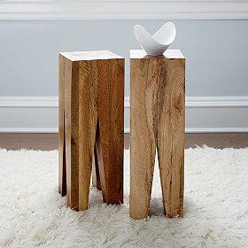 Tables - Quadro Natural Wood Side Table | The Company Store - rustic, wood table